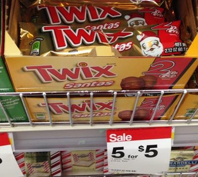 target twix santa