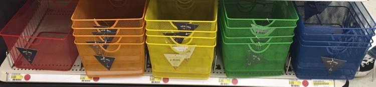 I Love The Fun Rainbow Colored Storage Bins Priced At $3 Each