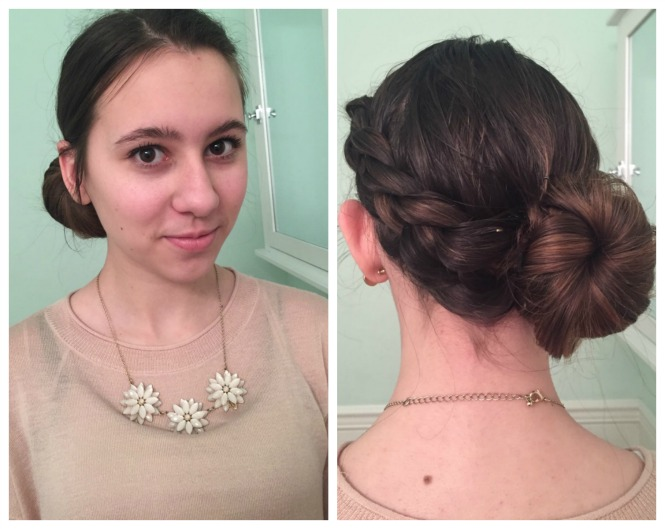 Quick and easy 5 Minute Braid Bun