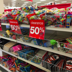 Target: Dollar Spot Black Star Items 50% off