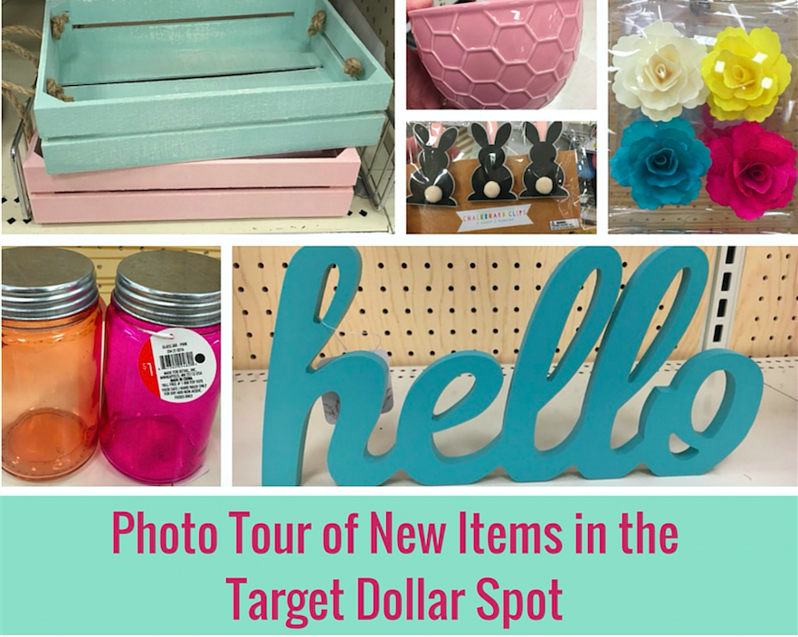 Photo Tour of new items for Spring in the Target Dollar Spot