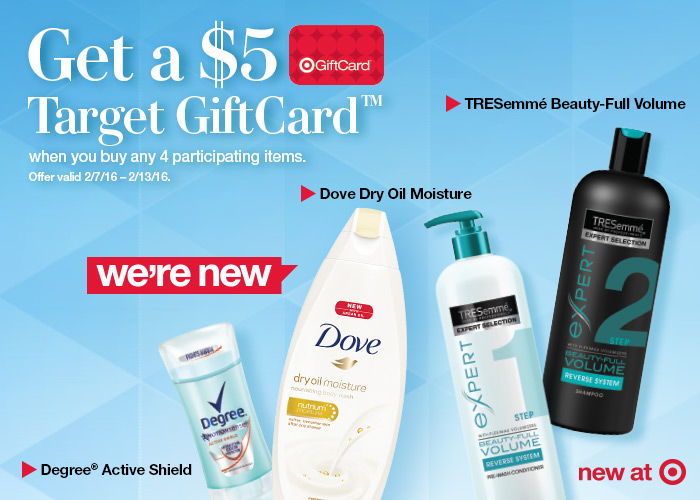 Unilever Gift card offer at Target