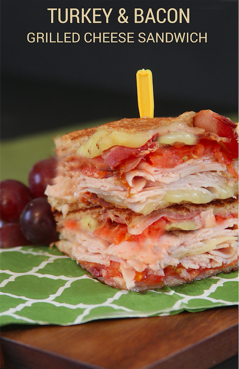 Turkey and Bacon Grilled Cheese Sandwich with Hillshire Farm Naturals