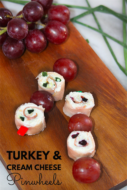 Turkey and Cream Cheese Pinwheels with Hillshire Farm Naturals
