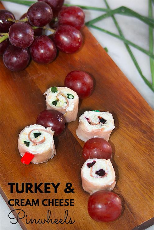 Turkey and Cream Cheese Pinwheels with Hillshire Farm Naturals