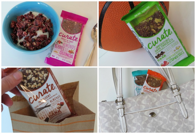 Curate Snack Bars on the go