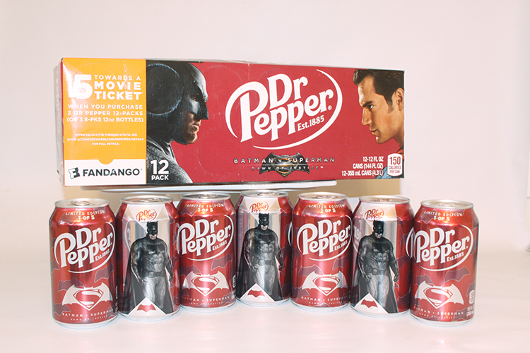 Limited Edition Dr Pepper Batman v Superman