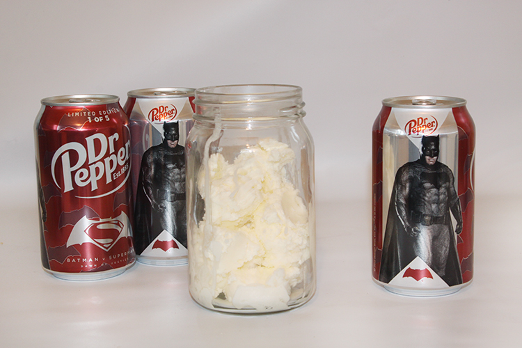 Fill with ice cream and Dr Pepper