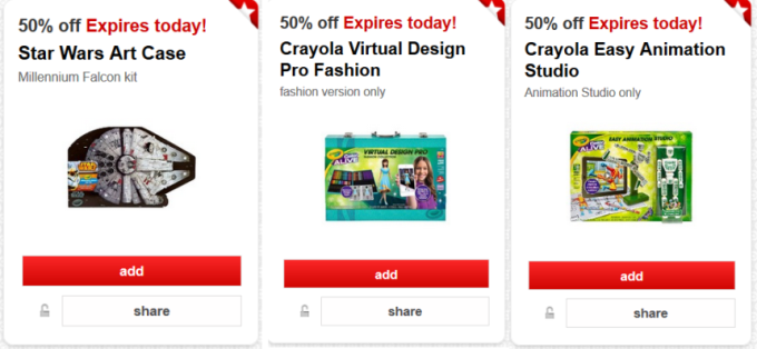 target cartwheel offers crayola collage pic