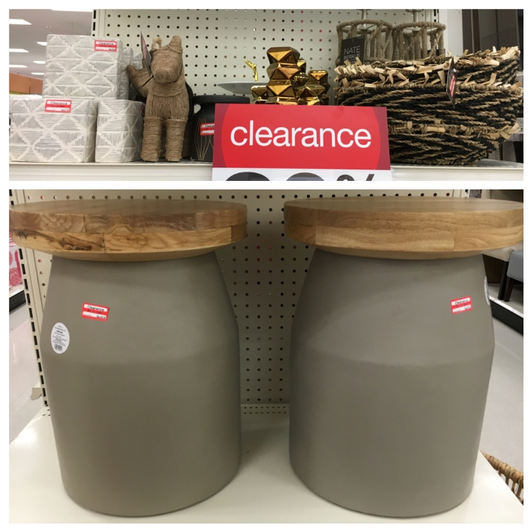 target clear home decor stool