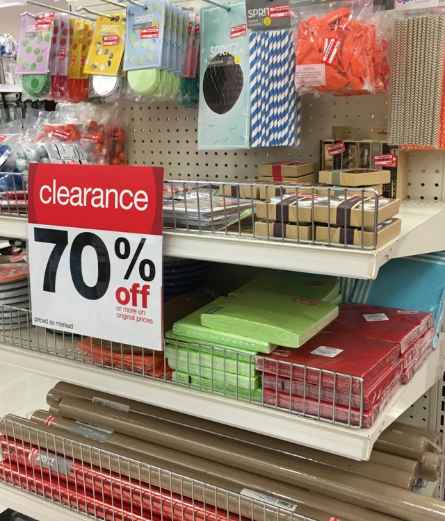 Target weekly clearance update 70 off crafts party for Clearance craft supplies sale