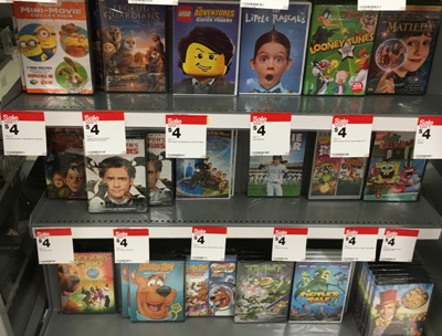 target dvd sale
