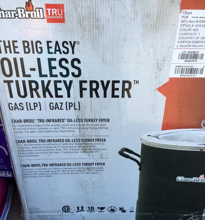 target read clear new turkey fryer