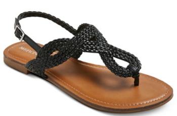 target shoe black sandal