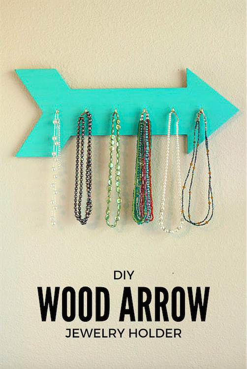 DIY Wood Arrow Jewelry Holder