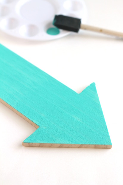 DIY wood arrow jewerly holder with supplies from Target