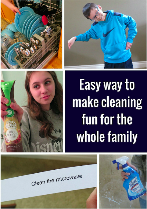Easy way to make cleaning fun for the whole family