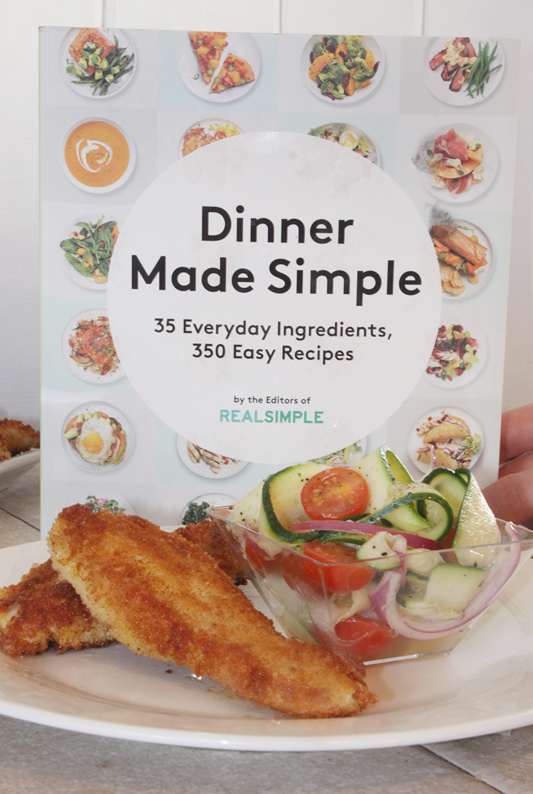 Pan-Fried Chicken Cutlets with Zucchini Salad from Dinner Made Simple Cookbook