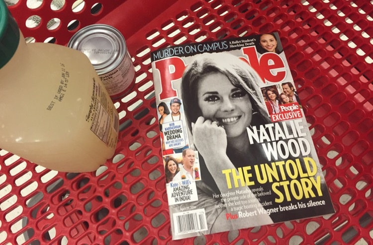 People Magazine shopping at Target