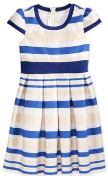 macy blue stripe dress 1