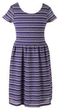 macy dress blue stripe