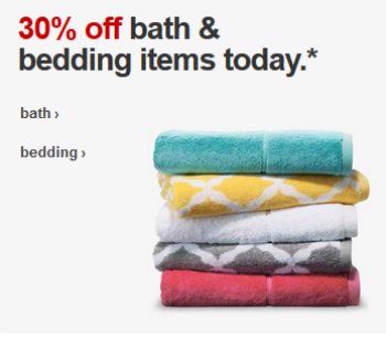 target bed bath deal pic
