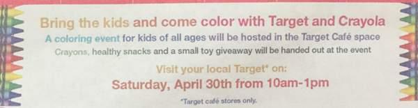 target crayola event pic