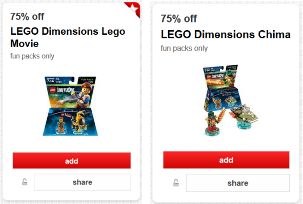 target cw LEGO offers pic