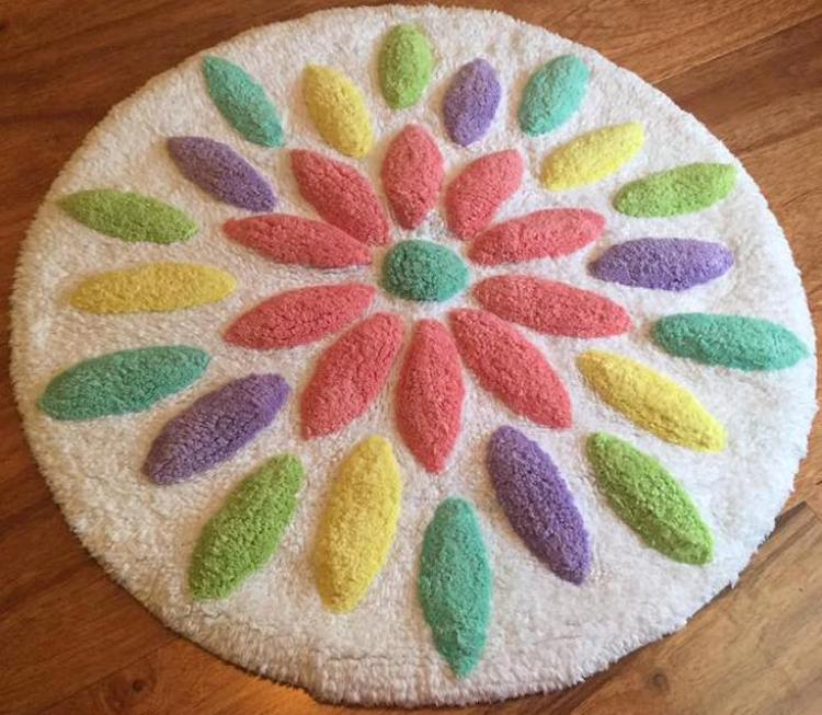 target read clear flower rug monica
