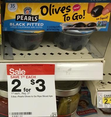 target black peal olives