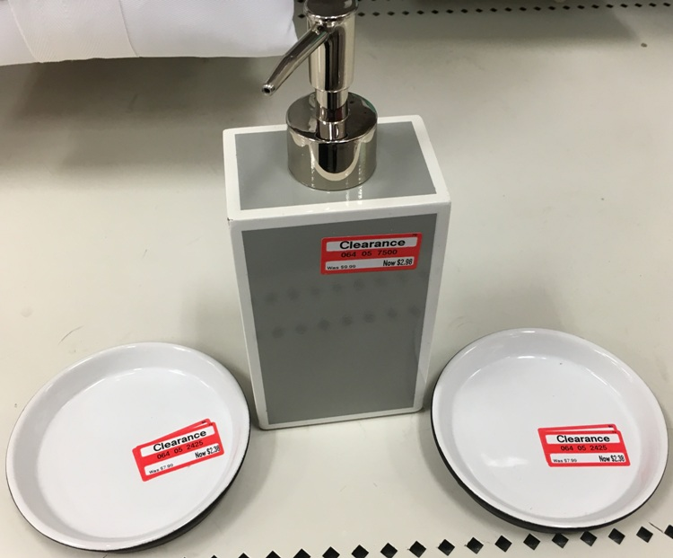 Target weekly clearance update 50 70 off bathroom for Clear bathroom accessories