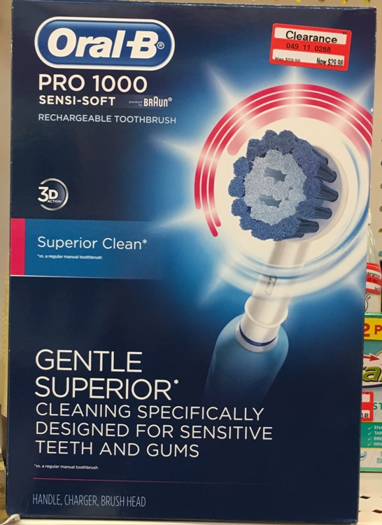 target clear oral b 50