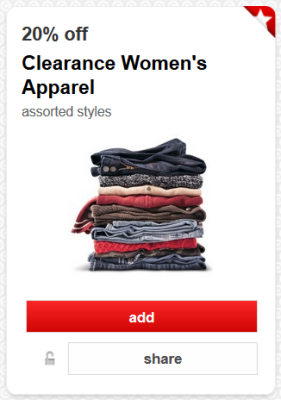 target cw clearance apparel pic