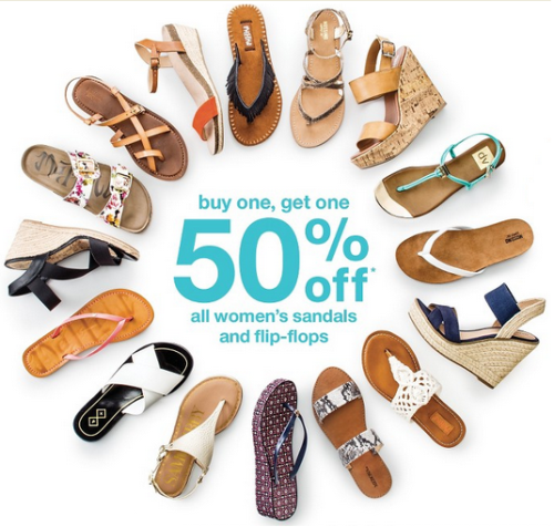 b18bb2a366e4 Target.com  Buy One Get One 50% off Women s Sandals   Flip Flops ...