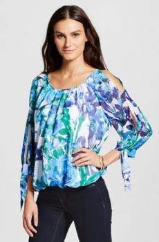 target women blue shirt