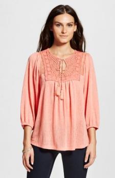 target women pink shirt