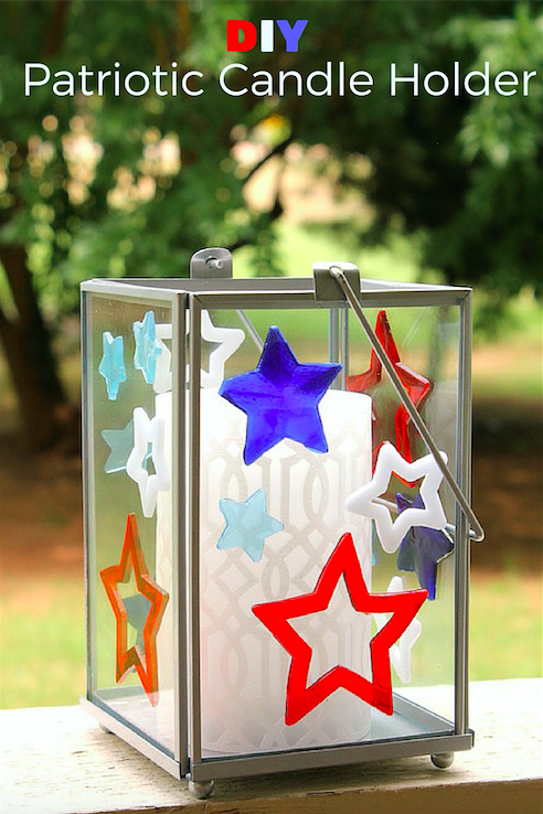 DIY Patriotic Candle Holder (wtih items from Target Dollar Spot)