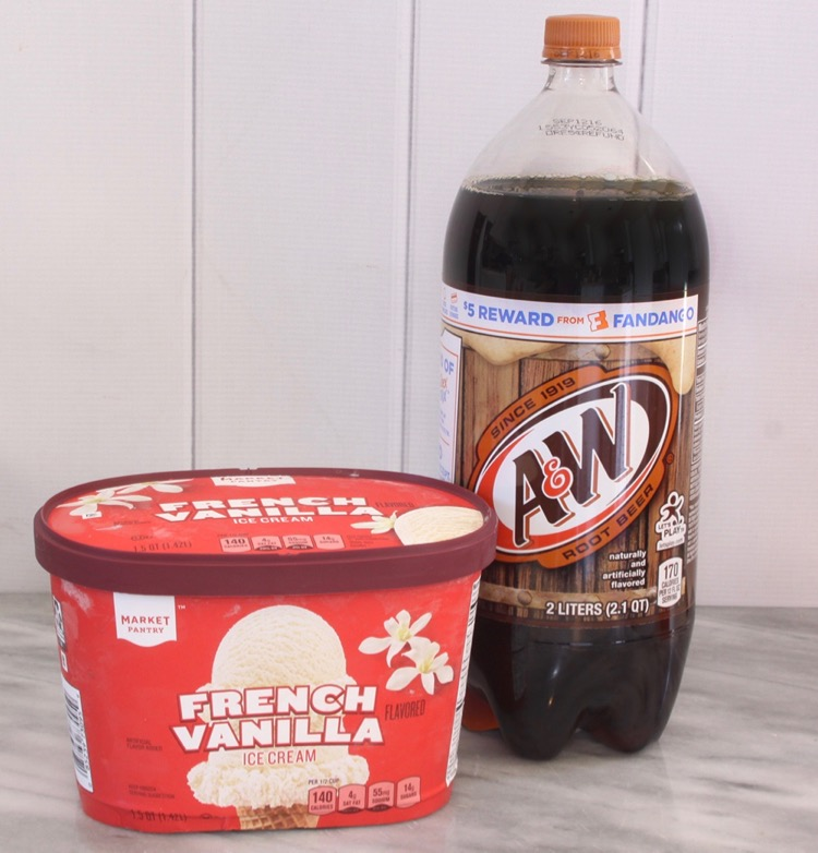 A&W Root Beer and Market Pantry Ice Cream
