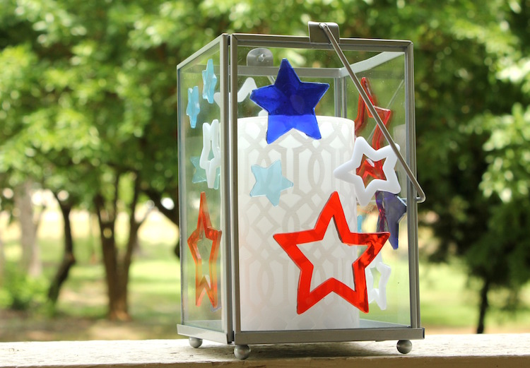 Patriotic Candle Holder | Target Dollar Spot DIY