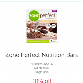 Zone Perfect Oatmeal Chocolate Chunk now at Target!
