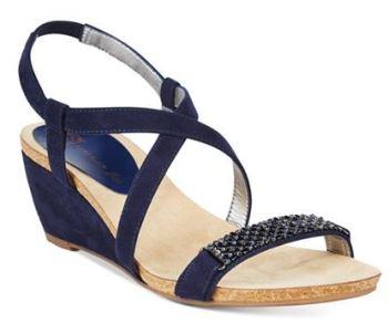 macy navy sandal