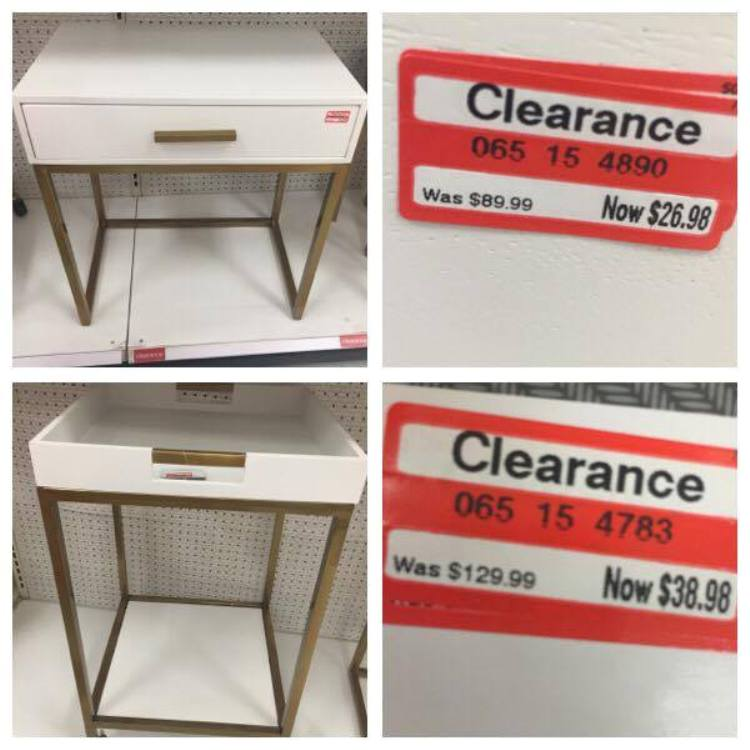 target read clear monica table