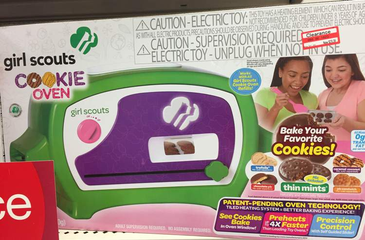 target toy clear girl scout oven