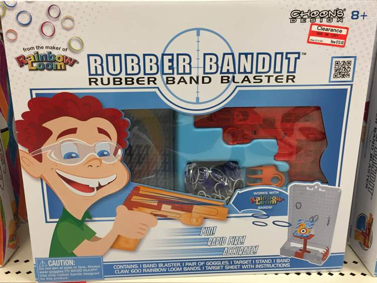 target toy clear rubberband bandit