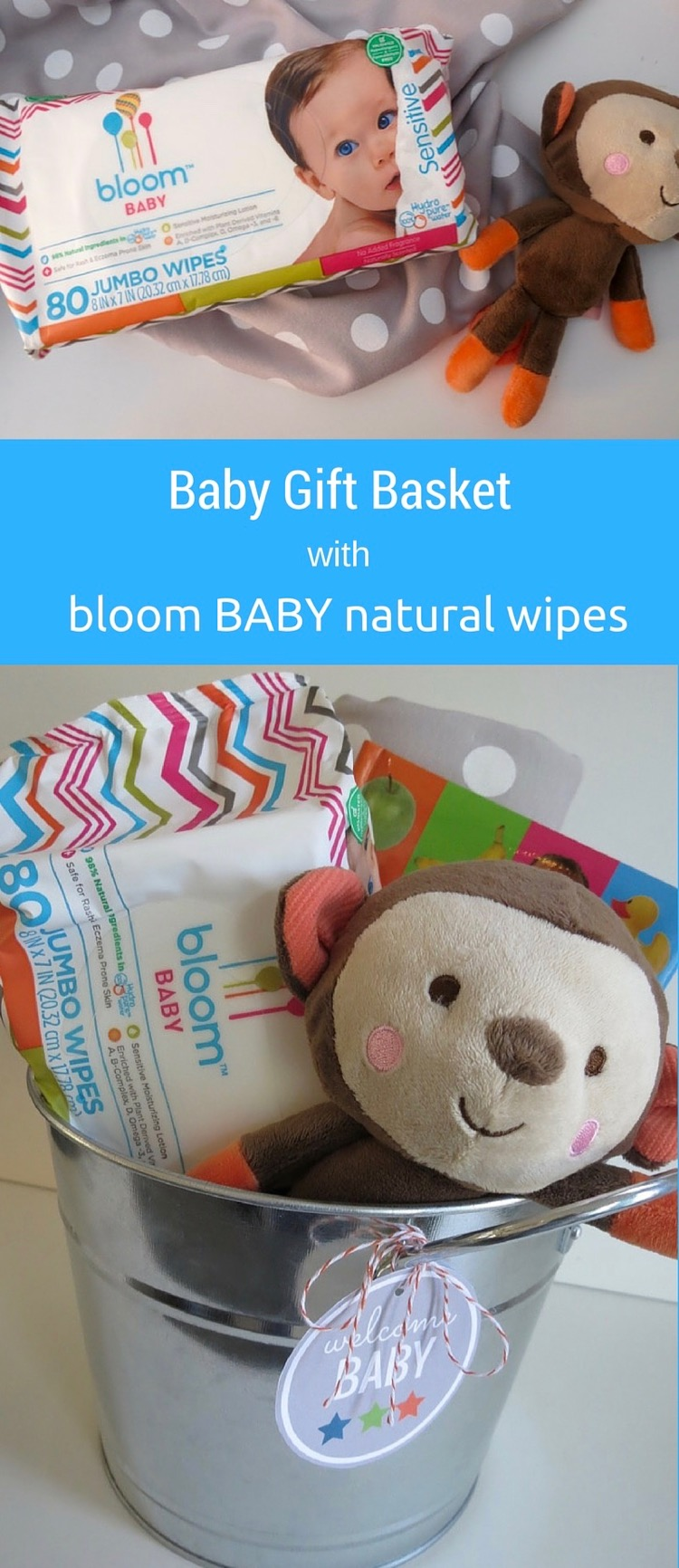 Baby Gift Basket featuring bloom BABY natural wipes at Target