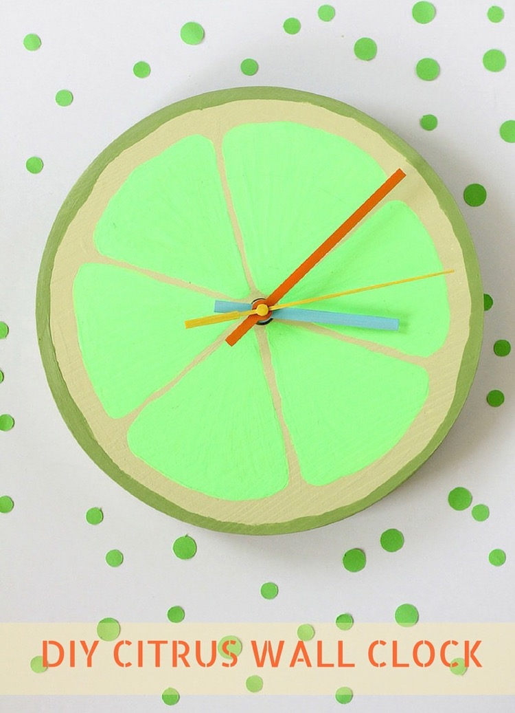 Diy citrus wall clock all things target for Whatever clock diy