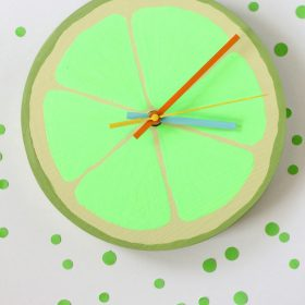 DIY Citrus Wall Clock