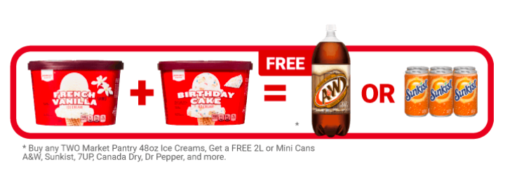 Target ice cream free soda deal