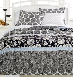 macy bed black white