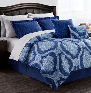 macy blue bed set
